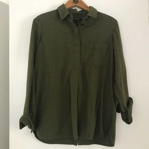 Madewell button back flannel